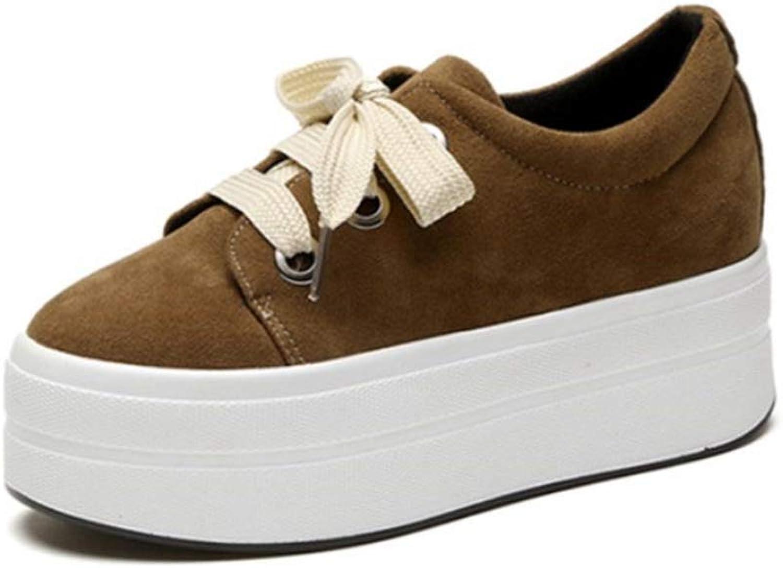 Autumn Wedges Suede shoes Woman Platform Sneakers Zipper Hidden Heel Height Increasing Casual Flats shoes