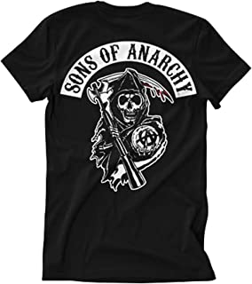 Sons of Anarchy Officially Licensed SOA Backpatch T-Shirt (Black)