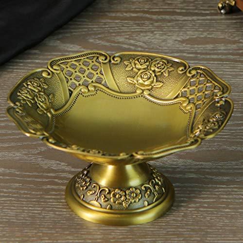 LRWstatues Creative Fruit Plate Tuerca Plate Hotel Club Mesa de té Snack Plate Joyería Contenedor de Almacenamiento