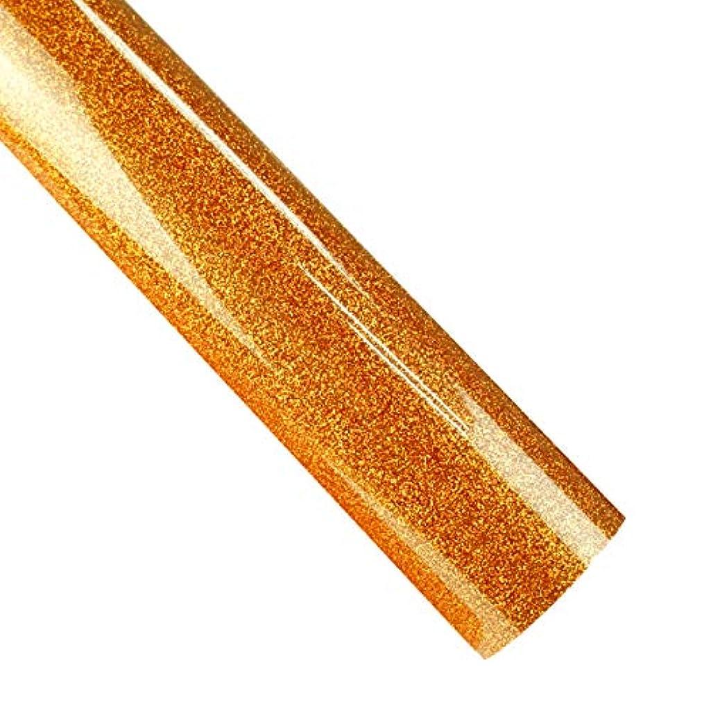 Glitter HTV Rolls 12 Inches by 10 Feet Iron On Glitter Heat Transfer Vinyl for T-Shirts, Silhouette Cameo, Heat Press & Cricut Machine (Glitter Orange)