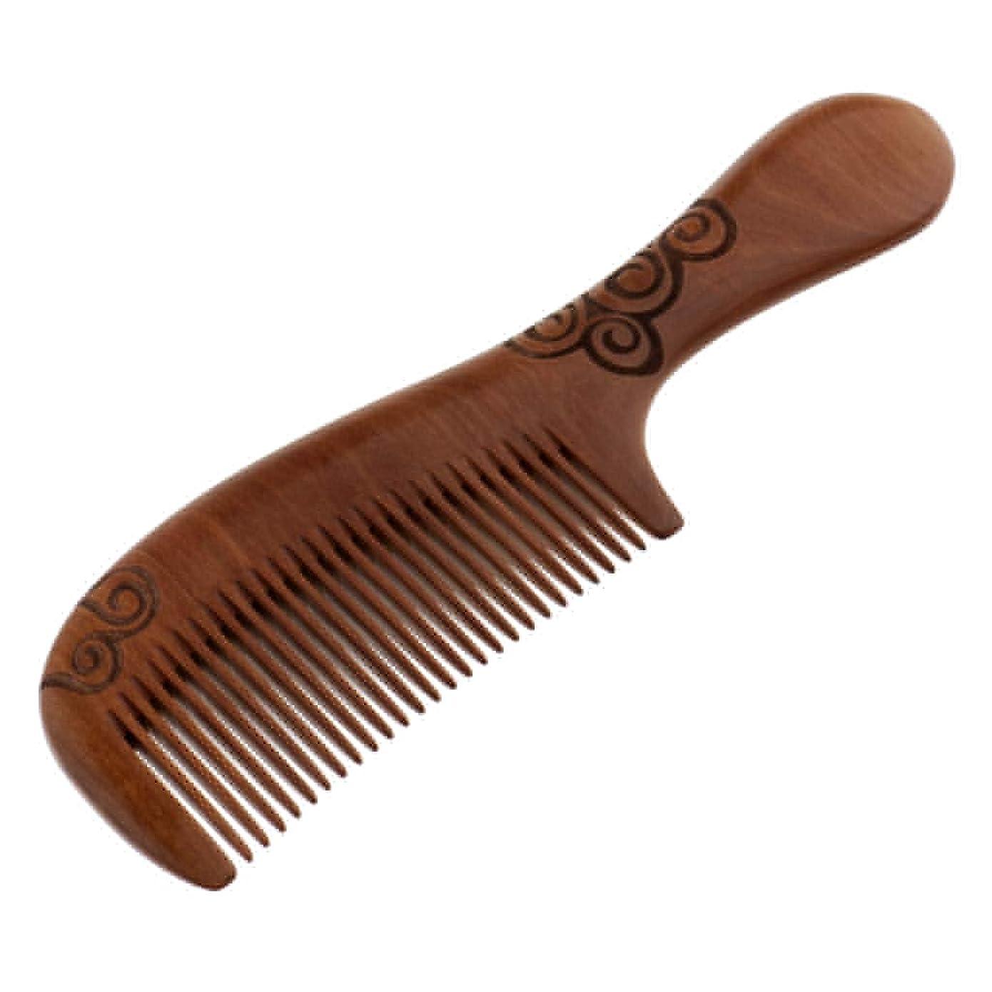 広げる浪費腫瘍Toygogo くし コーム 木製 頭皮マッサージ ヘア櫛 木製ヘアコーム ヘアケア 髪の櫛 帯電防止 耐熱性