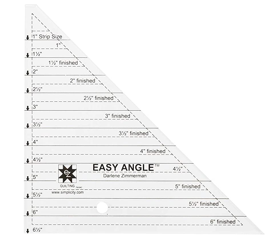 Dimensions Small Easy Angle Triangle Quilting Ruler and Quilting Template