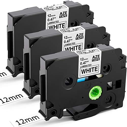 3x TZe-231 TZ-231 12mm Schriftband für Brother P-touch PT-H100LB 1000 1010 D400