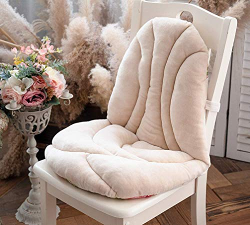 Winter Seat Pad Sofa Cushion Booster Cushion Indoor Outdoor Office Car Garden Armchair with Straps Thick Flannel Fabric Soft (C)