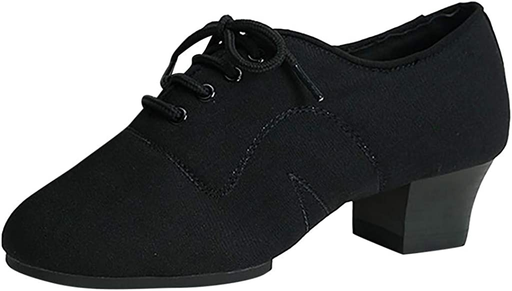 Pzhhzpingg Dance Shoes for Women Low Heel Close Toe Ballroom Prom Evening Party Latin Salsa Tango Socials Dancing Shoes