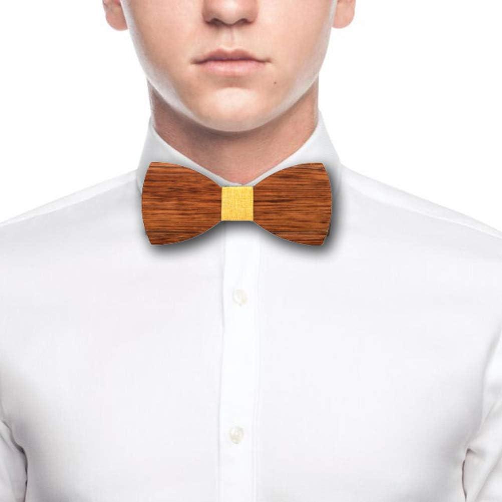 1pc Wooden Bowtie Creative Uniuqe Hand Craft Bowknot Cravat Wedding Party Festival Decor for Men for Party Supplies