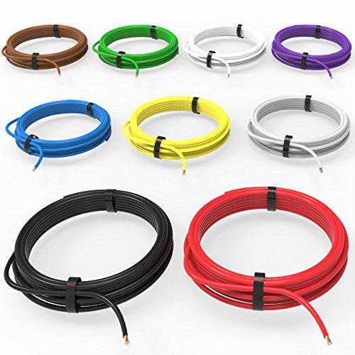 AUPROTEC Fahrzeugleitung 1,0 mm² Set 9 Farben à 10m FLRY-B als Ring