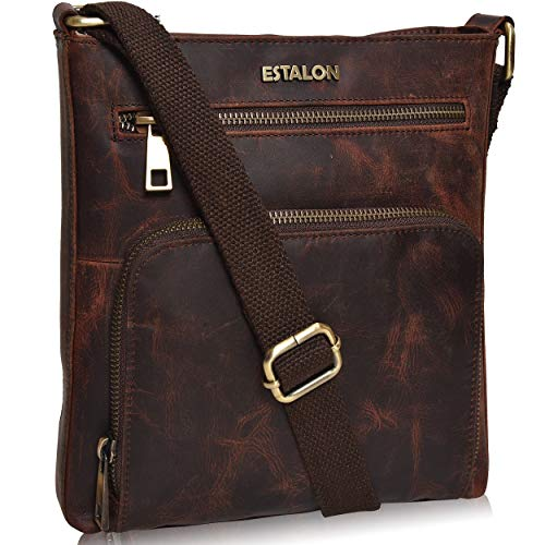 100% GENUINE LEATHER: Forget the feel of PU and faux leather with our authentic cowhide leather crossbody bag. Crafted from 100% oil-rich genuine leather, our Brown hunter crossbody bag adds a fashionable touch to your wardrobe. The supreme quality b...