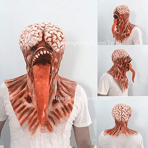 JNKDSGF Horrormasker Halloween Monster Scary Mask Latex Teufel Masker Maskerade Party Silicone Horror Zombie Terror