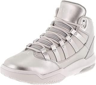 Jordan Kids Jordan Max Aura SE (GS) Silver/Vast Grey/Wht Basketball Shoe 4.5 Kids US