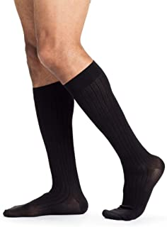SIGVARIS Men's Business Casual 189 Calf High Compression Socks 15-20mmHg