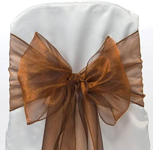 MDS lowest price 100 PCS Organza Chair Sashes Bows Even or for sash Wedding 40% OFF Cheap Sale