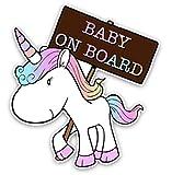EROSPA® Auto-Aufkleber KFZ - Baby On Board - Einhorn -