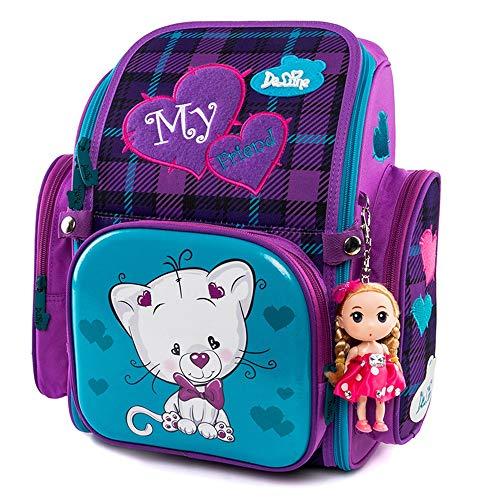 Ergonomischer Schulranzen Mädchen 1-4.Klasse,Kinderrucksack Schulrucksack Ranzen,Schulrucksack Schulranzen Schultasche,im Kindergarten der Kleine Freund,Mädchen Geschenk