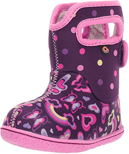 BOGS Baby Waterproof Insulated Snow Boot, Rainbows-Purple Multi, 9