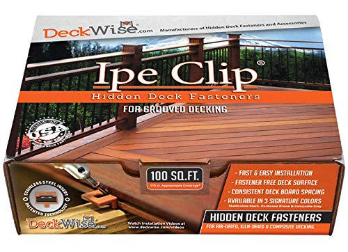 DeckWise (Black) Ipe Clip Extreme S Hidden Deck Fasteners, 5/32