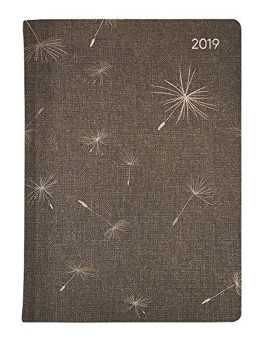 Ladytimer Glamour Blowballs 2019 - Taschenplaner / Taschenkalender A6 - Weekly - 192 Seiten - Metallicprägung Pusteblume