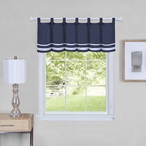 "Achim Home Furnishings Achim Home Imports Dakota Window Curtain Valance, 58"" x 14"", Navy"