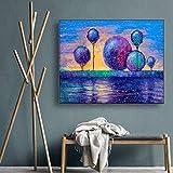 SADHAF Impresión en lienzo Acuarela abstracta Arte de la pared natural Árbol Cartel e impresiones Sala de estar familiar A6 70x100cm