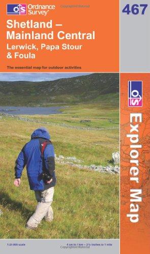 OS Explorer map 467 : Shetland - Mainland Central