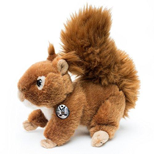 Eichhörnchen HAMMY laufend 18 cm Plüschtier von Kuscheltiere.biz