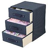 Wuyue Hua - Boîte de rangement à trois tiroirs pour sous-vêtements - Tissu Oxford...