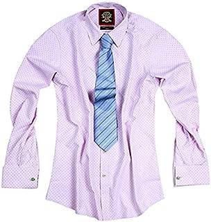 Cuello Redondo para Hombre Peaky Blinders 100-39 Color Rosa y Blanco dise/ño de Rayas