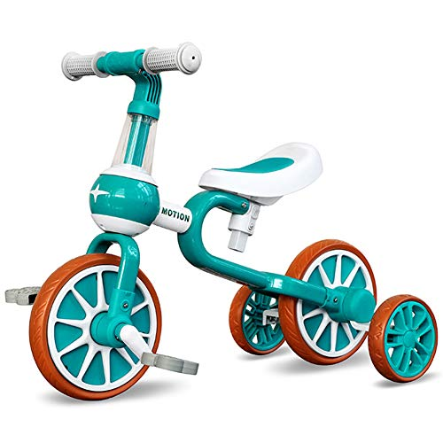 Maydolly(メイドリ)4in1 ベビーストライダー・三輪車・ベビーウォーカー・自転車 ペダル外す可能なランニングバイク キックバイク 2.6kg軽量 2-4歳に対応 アウトドアと室内兼用な遊具 サドル高さが調節できるから成長に合わせて長く楽しめる ギ