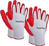 FuelPaw 2-Pack Sandy Nitrile Coated Automotive Utility Gloves Grime Resistant (Large)