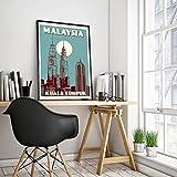Vintage Poster Malaysia - Kuala Lumpur - Petronas Towers