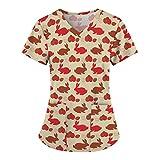 Camisetas de mujer de gran tamaño, elegante, blusa de manga corta, blusa básica de verano, túnica, conejo, Pascua, dulce, blusa, informal, camiseta deportiva para mujer DB377