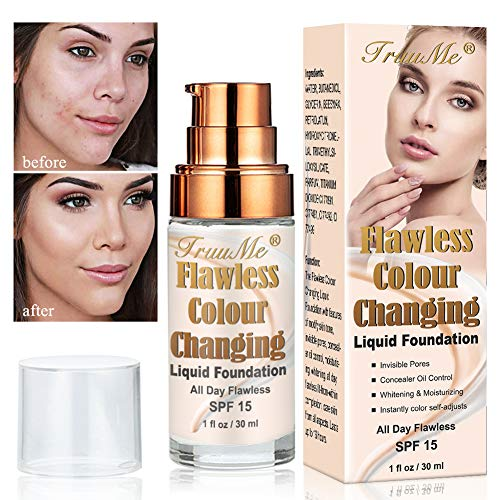 Foundation Color Changing, Base de Maquillaje, Concealer Cover Cream, Maquillaje de base...