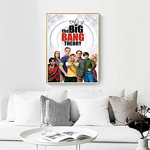 shuimanjinshan Big Bang Theory Movie Poster Wall Artist Home Decoration Canvas Art Nordic Living Room Hotel Bar Cafe (Pe-883) 50x70cm No frame