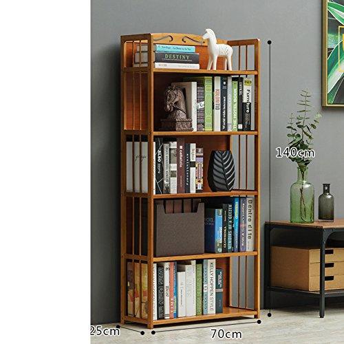 WJXBoos Estantería,Storage Rack Simple Moderno bambú Simple aterrizó Estudiantes de Escritorio librería para niños-T 70x25x140cm(28x10x55)