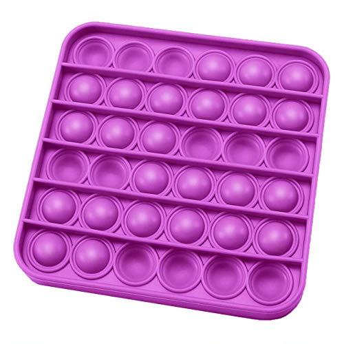 Ousyaah Fidget Sensory Toys Push, Pop Pop Bubble Sensory Fidget Toy, Juguetes Divertidos y Juguetes Educativos Special Needs Juguetes de Silicona para niños y Adultos (Púrpura Cuadrado)