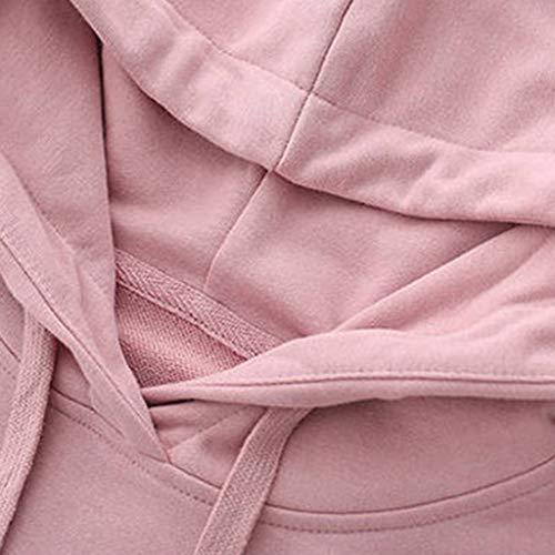 LANSKIRT Blusas para Mujer Elegantes Sudaderas con Capucha Casual Abrigos Invierno Jersey Holgado de Gato con Cordón y Bolsillos Suéter Modernas 2019 Ropa de Dama Otoño Talla Grande S-XXL