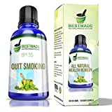 Quit Smoking Natural Remedy BM55 - Helps You Stop Smoking Cigarettes & Tobacco Products - Smoking Cessation Supplement - Risk Free Purchase - Completely Safe - Drink with Water Daily - 30mL