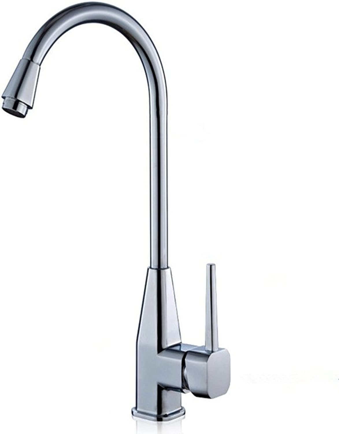LaaN Kitchen Bathroom Single Hole Faucet Hot and Cold Water Basin Copper Core Body Sink Faucet