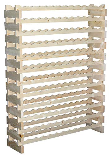 Stackable Modular Wine Rack Storage Stand Display Shelves,...