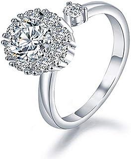Lozse Anelli regolabili Anello anello di apertura del diamante e della signora