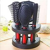 Peine 6 Unids / Set Kit De Cepillo De Pelo Profesional Peines + Espejo + Soporte De Almacenamiento Cepillo De Pelo Peine De Peluquería Herramientas De Peinado Accesorios