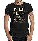 GASOLINE BANDIT T-Shirt original Biker Racer Design: Ich Liebe Meine Frau L