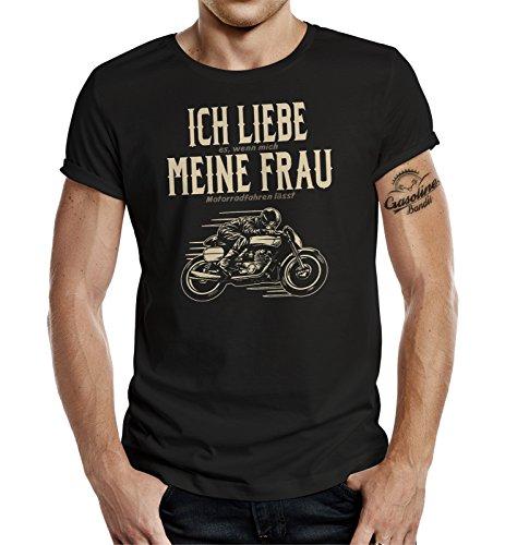Gasoline Bandit T-Shirt original Biker Racer Design: Ich Liebe Meine Frau XL