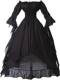 Women Plus Size Off Shoulder Renaissance Medieval Dress Costume