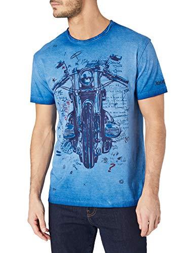 Desigual TS_Caligula Camiseta, Azul, XXL para Hombre