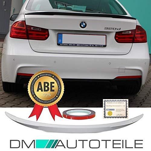DM Autoteile Sport-Performance Heckspoiler Hecklippe Kofferraumspoiler passt für F30 +ABE ZULASSUNG