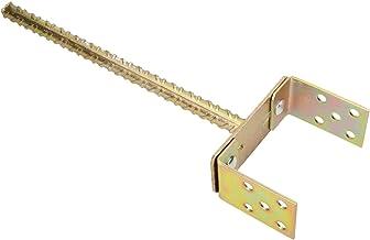 KOTARBAU® U-paaldrager 0-160 mm in breedte verstelbare stang 385 mm paaldrager met betonanker bodemhuls palen om in beton ...
