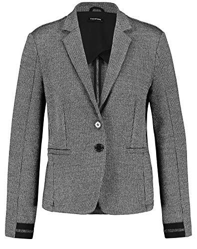 Taifun Damen Blazer Mit Feinen Lurex-Details Tailliert Black Gemustert 36