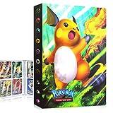 QIFAENY Album Pokemon, Album Pokemon Cartas, Álbum de Cartas coleccionables de Pokémon, Carpeta de Pokémon, Album Cartas Pokemon Tag GX EX, Capacidad para 30 páginas 240 Cartas (Raichu)