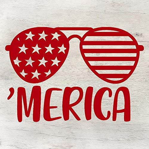 American 'Merica, lunettes de soleil, drapeau américain, I Love The USA, Proud American, United States of America, I Love US, Home Wall Decals